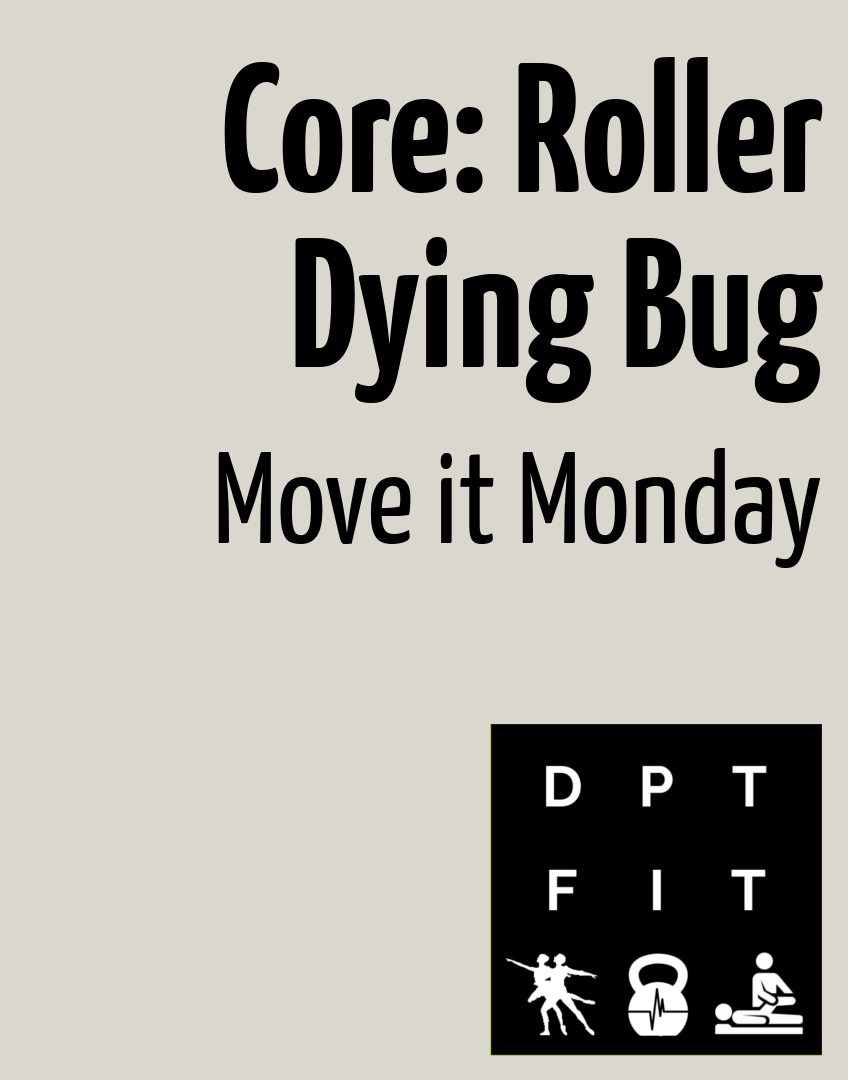"""<span class=""""entry-title-primary"""">Roller Dying Bug Core Exercise</span> <span class=""""entry-subtitle"""">Move It Monday</span>"""