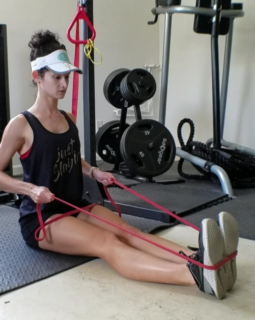 Upper Back Strengthener – Seated Band Row