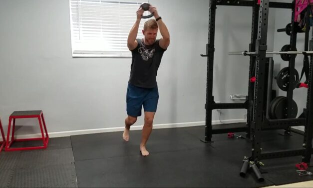 Single Leg Stance with Upper Body Figure 8 – Dynamic Balance and Shoulder Endurance
